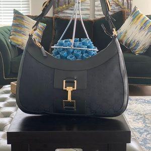 Gucci Hand Bag  Black GG Canvas 1601147